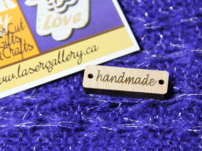 Wooden labels tags for knitting crochet macrame handmade