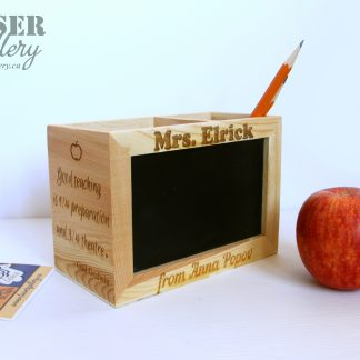 Engraved Pencil Holder for Teacher
